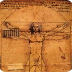 Photo of The iconic Vetruvian Man by Leonardo da Vinci