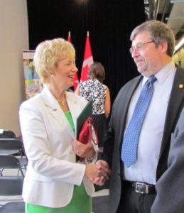 Photo of MP Judy Sgro and MPRI Rob Haché